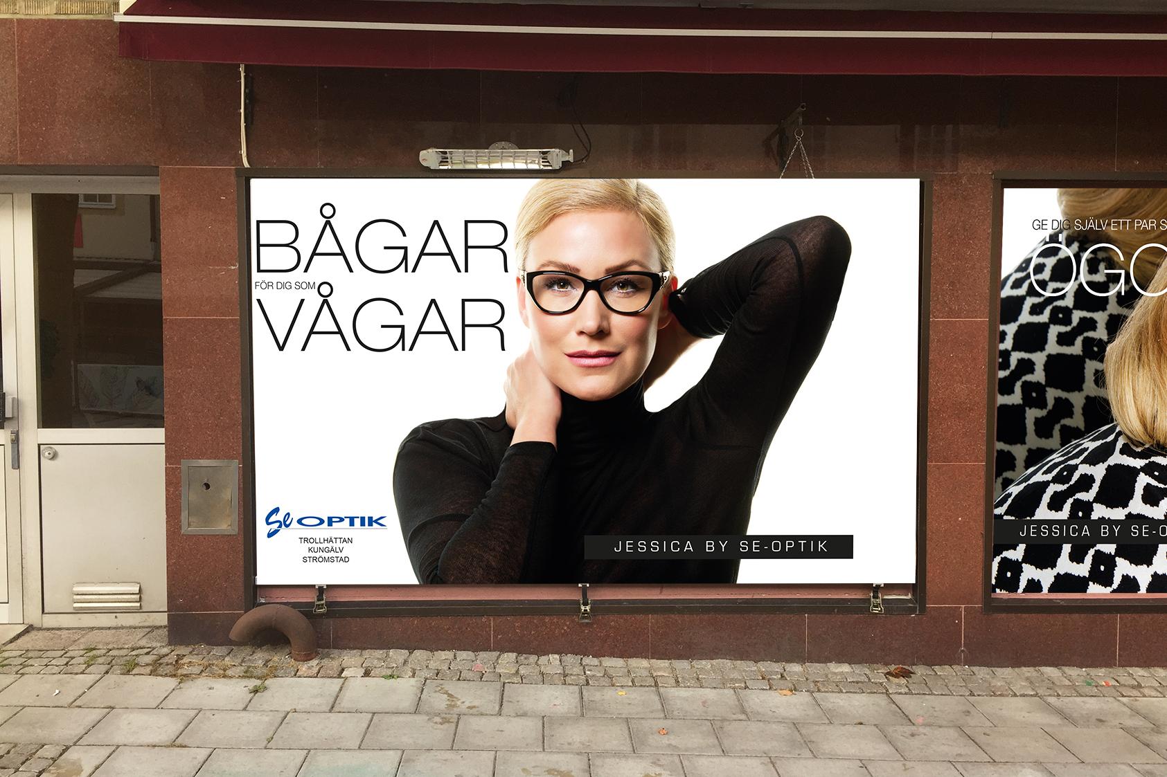 Se-Optiks kampanj med Jessica Andersson som huvudperson fortsätter.